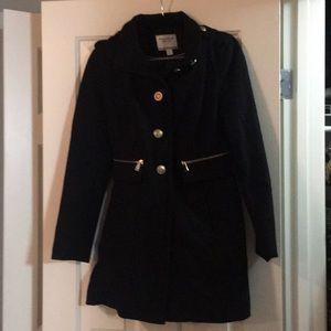 Nautica Pea Coat Black Gold Accents